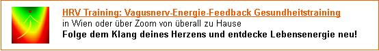 HRV Training: nachhaltig Energie im Vagusnerv aufbauen