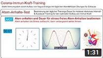 Immunsystem stärken: Atem-Anhalte-Test * Corona-Immun-Kraft-Training * Trainingssteuerung